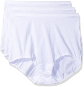 c07a17c5b198 Shadowline Women's Plus Size Panties-Cotton Brief (3 Pack), White, 11