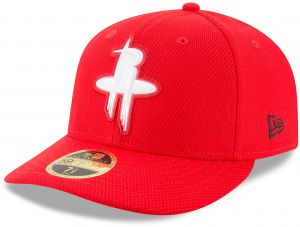 new style bb84d 9f835 New Era NBA Houston Rockets Adult Bevel Team Low Profile 59FIFTY Fitted Cap,  7 1 2, Scarlet
