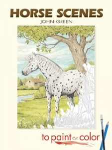 Horse Scenes To Paint Or Color Dover Art Coloring Book