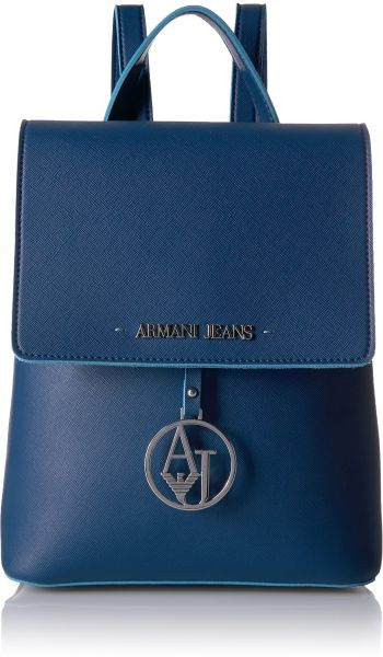 Armani Jeans Saffiano Color Trim Backpack, Navy