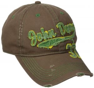 392ae61cd50c9 John Deere Embroidered Logo Vintage Raw Edge Baseball Hat - One-Size -  Men s - Brown