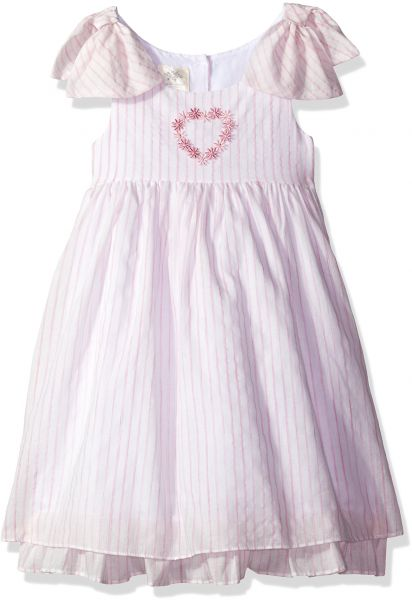 Buy Laura Ashley London Little Girls Bow Sleeve Party Dress Pink