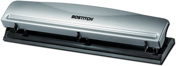 Bostitch Office 3 Hole Punch 3 Hole Gray