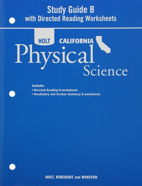 Souq Holt Science Technology California Study Guide B With