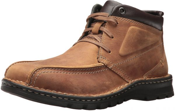 Clarks Men's Vanek Rise Oxford, Tan Leather, 10 W US
