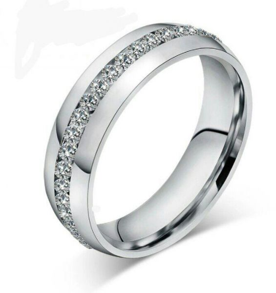 Captivating Wedding Stainless Steel Women Ring Size 7