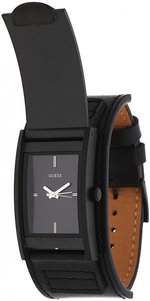 c64bfc03174ce Guess Men s Black Dial Leather Band Watch - W0358G1. by Guess