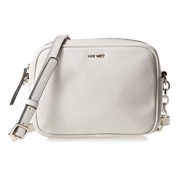 7cc3d6db1 nine west skylight you me satchel 33 liked on polyvore featuring bags  handbags white genuine leather; nine west crossbody bag for women off white  souq egypt ...