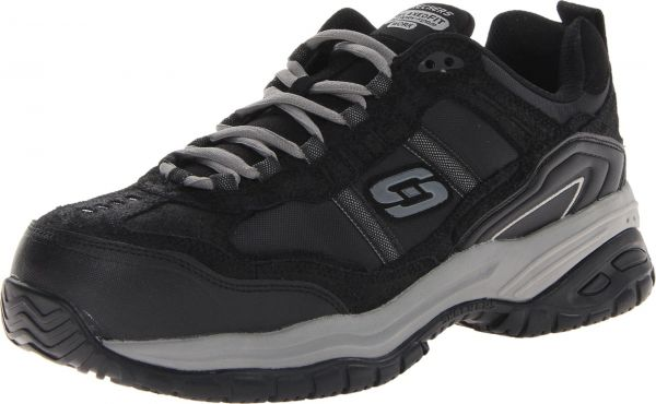 Skechers Men's Work Relaxed Fit Soft Stride Grinnel Comp, Brown/Black - 12 D(M) US