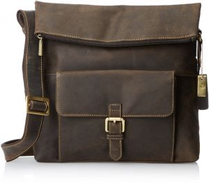 6e1e55d1bf Visconti Mars Large Leather Messenger Shoulder Bag Handbag Oiled Leather