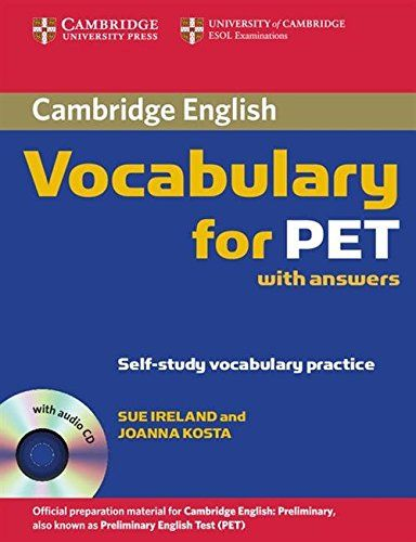 souq cambridge vocabulary for pet student book with answers and