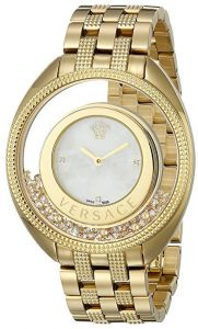 86d4e17788bc3 Versace Women s Gold   White Dial Stainless Steel Band Watch - VQO070015