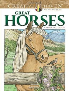 Creative Haven Great Horses Coloring Book Adult