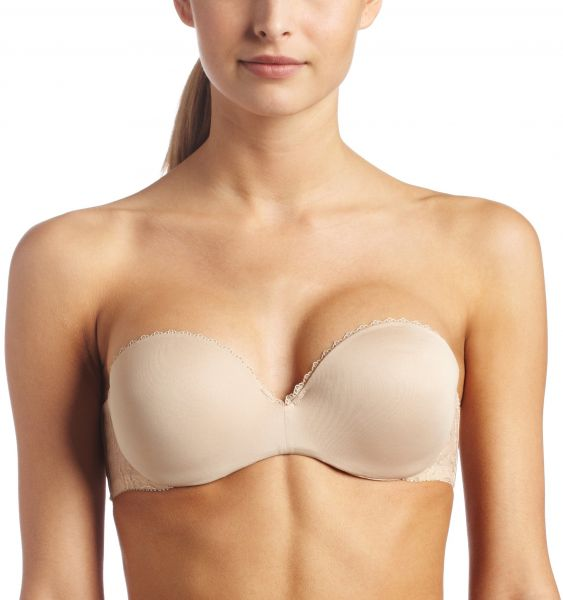 a36d342399 Lily Of France Women s Gel Touch Strapless Push Up Bra