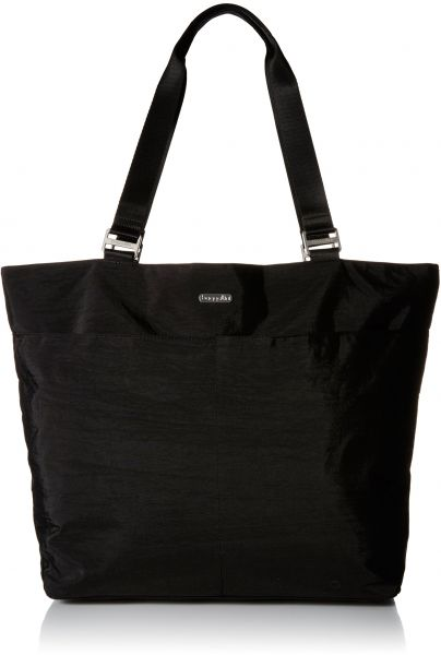 Carryall Travel Tote Bag, Black/Sand, One Size Baggallini
