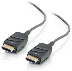 C2G 41372 High Speed HDMI Active Optical Cable (AOC) Plenum, CMP Rated, Grey (75 Feet, 22.86 Meters)