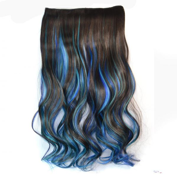 Women Multi Color Hair Extension Curly Sb01
