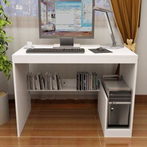 Vogue Work Desk With A CPU Shelf, White   KLST 01014 With Assembly