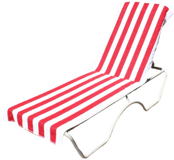 M Home & Design Part - 37: J U0026 M Home Fashions Lounge Chair Beach Towel With Fitted Pocket Red 70041