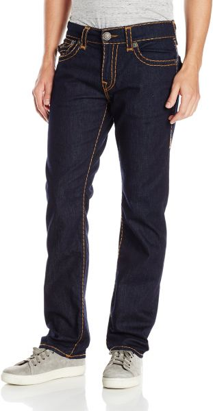 4a4998577 True Religion Men s Ricky Relaxed Straight Super T with Flaps