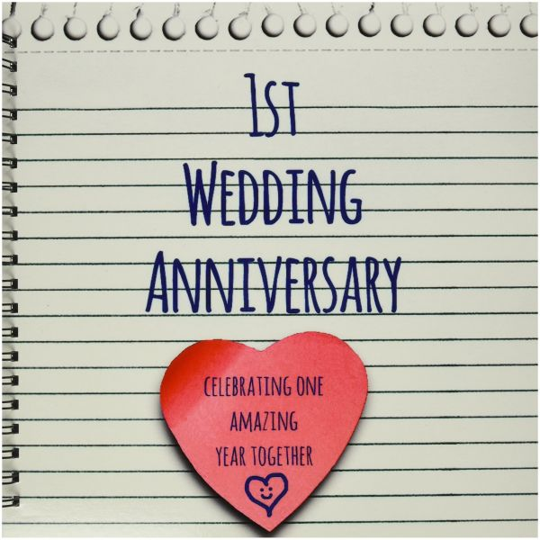 Inspirationz Occasions 1st Wedding Anniversary Gift Paper Celebrating 1 Year Together First Anniversaries One Yr Drawing Book 12x12 Memory