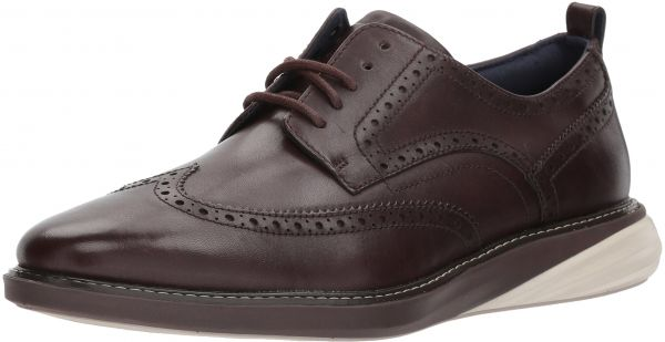 Cole Haan Men's Grand Evolution Shortwing Oxford, Java/Pumice Stone/Java,  8.5 Wide US