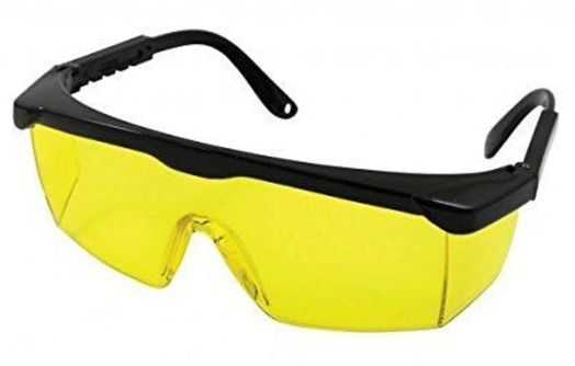 2a6fa0d4ff0 VIQILANY Laser Eye Protection Safety Glasses fOr Red and UV Lasers with  Case (Yellow)