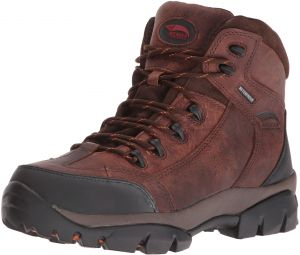 396954ba6 Avenger Safety Footwear Men's Avenger 7644 Leather Waterproof Soft Toe No  Metal EH Hiker Industrial and Construction Shoe, Brown, 13 2E US