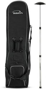 Intech Golf Travel Cover With Wheels Bundle Crossbar Bag Support Rod