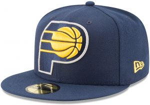quality design 8bff9 f7338 NBA Indiana Pacers Logo Grand Fitted 59Fifty Cap, 7.5, Navy