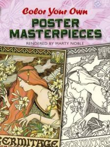 Color Your Own Poster Masterpieces Dover Art Coloring Book