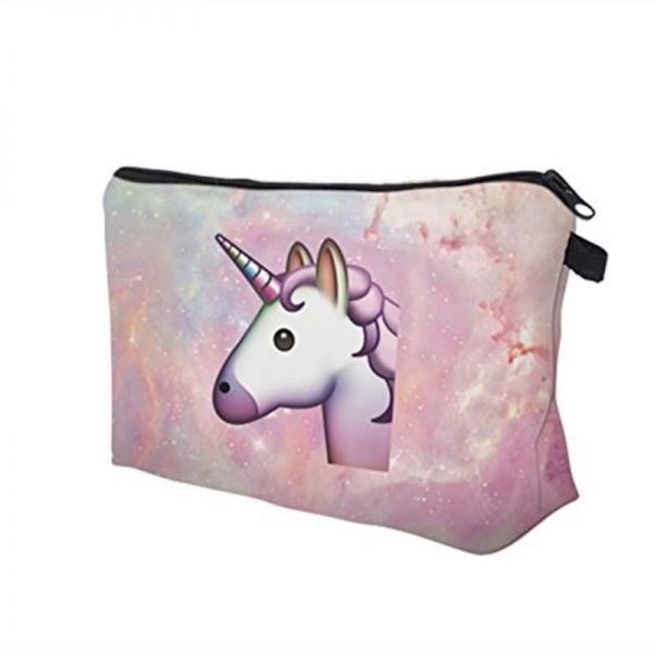 acb2c2e4bd80 Women Makeup Bags 3D Printing Zipper Cosmetic Bag With Multicolor Pattern  Cute Unicorn Cosmetics Pouchs For Travel Ladies Women eyebrow Pencil Case  ...