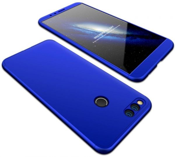 sale retailer 52822 0ad19 Huawei Honor 7X Case, fashion ultra Slim Gkk 360 Full Protection Cover Case  - Blue
