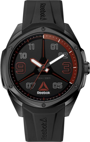 7633a52ca2c9 Reebok Men s Black Dial Silicone Band Watch - RD-UPP-G2-SBIB-BR