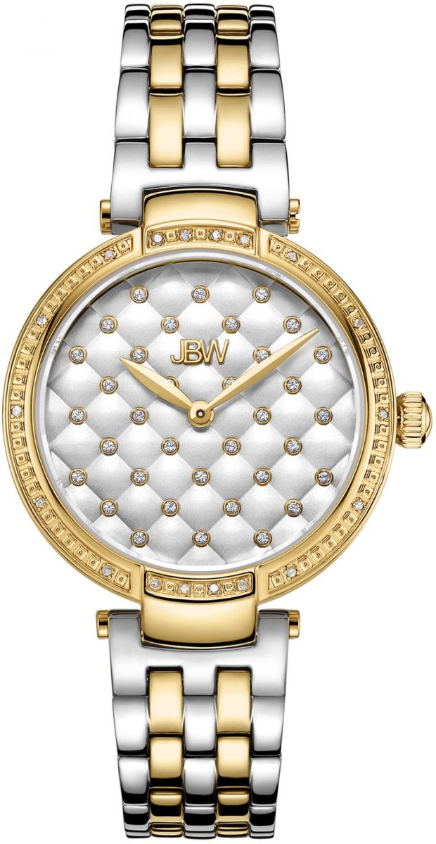 JBW Gala Women's 18 Genuine Diamonds Two Tone Gold Plated Stainless Steel Watch