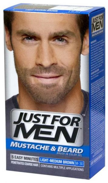 Just For Men Mustache and Beard Dark Brown Brush In Color ...