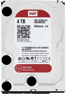 """WD 4TB Red NAS Internal Sata 3.5"""" 64MB Cache Hard Drive - WD40EFRX"""