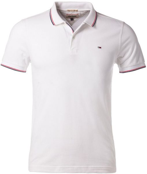 fd9ca6fb Tommy Hilfiger White Shirt Neck Polo For Men | Souq - Egypt