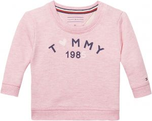 5645a9a95 Tommy Hilfiger Cotton Terry Blend Sweatshirt for Newborn Baby - 9 Months,  Pink Heather