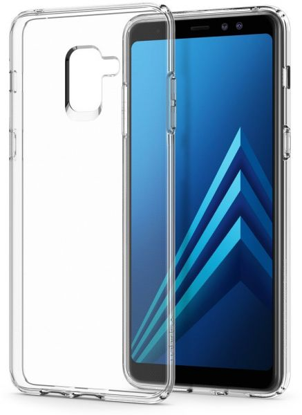 Spigen Samsung Galaxy A8 PLUS (2018) Liquid Crystal A8+ cover / case -  Crystal Clear