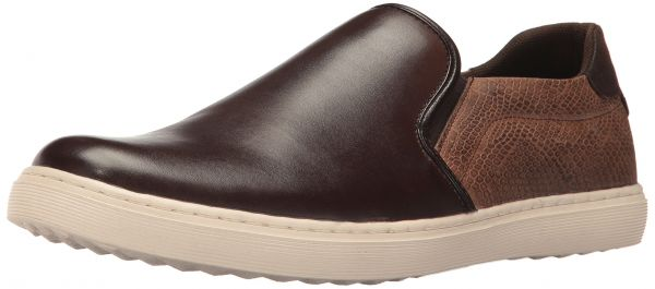 Steve Madden Men's Gallagher Fashion Sneaker, Brown, 10 M US