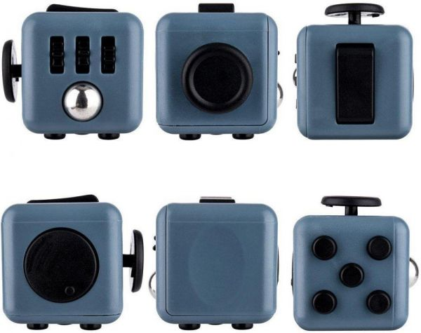 Fidget Cube Anxiety Stress Relief Focus Fun Play Gift For Children And Adult Grey Black