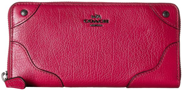 Coach Grain Mickie Zip Around Wallet for Women - Leather e6a7f8ea272b9