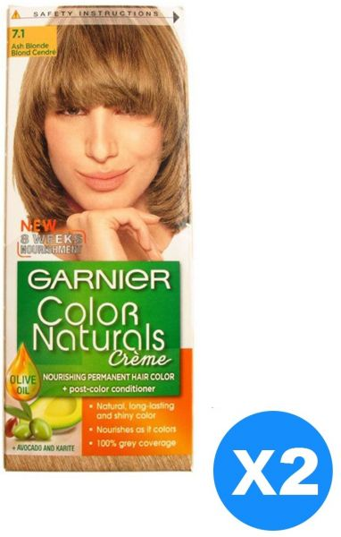 Garnier Color Naturals Crème Twin Pack 71 Ash Blonde Souq Uae