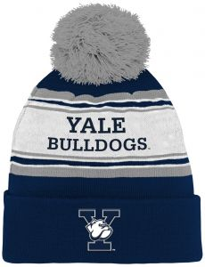 c9d8c430f60 Outerstuff NCAA Yale Bulldogs Kids   Youth Boys Jacquard Cuffed Knit Hat w  Pom