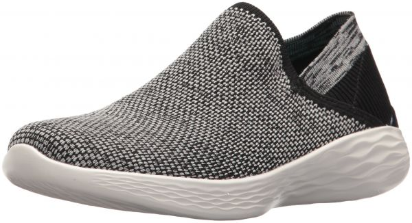 Skechers Performance Women's You-14958 Sneaker,Black/White,8.5 M US