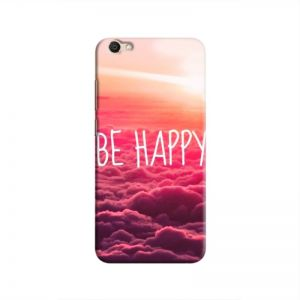 Cover It Up Be Happy Hard Case for Vivo V5 - Multi Color
