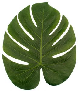 12pcs Polyester Large Green Artificial Palm Leaves -Party Table Decoration  - Hawaiian SummerDecoration - Art and Craft 56c26830e62a8