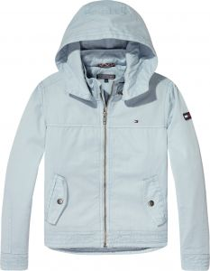 Tommy Hilfiger Zip Up Hoodie For Boys - Light Blue f9f1117587