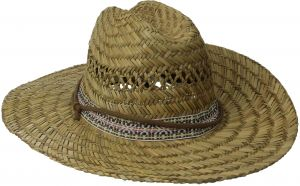 c54dd84e3ac San Diego Hat Co. Men s Straw Lifeguard Hat with Jacquard Band and Chin  Strap